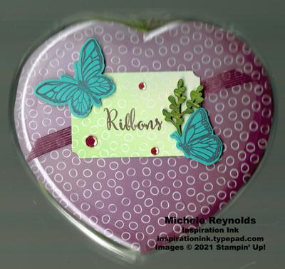 Floating & fluttering ribbon heart watermark