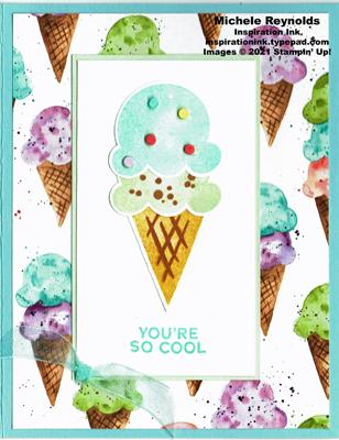 Sweet ice cream cool cone watermark