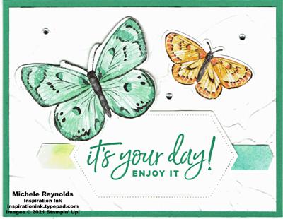Happiest of birthdays your day butterflies green version watermark