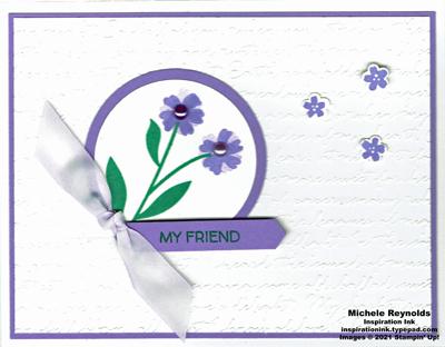 Field of flowers pastel purple flowers watermark