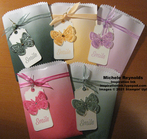 Butterfly brilliance ombre treat bags