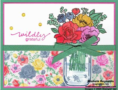 Jar of flowers grateful jar bouquet watermark