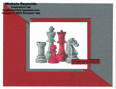 Game on diagonal chess watermark