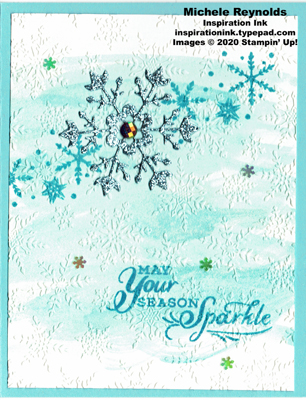 Snowflake wishes sparkly snow swirl watermark