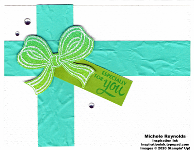 Gift wrapped ombre bow present 2 watermark