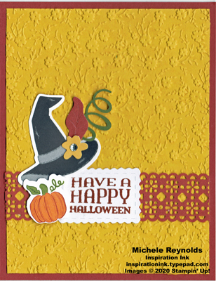 Paper pumpkin hello pumpkin flowery witch hat watermark