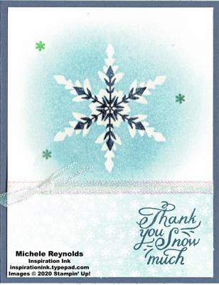 Snowflake wishes emboss resist snowflake watermark