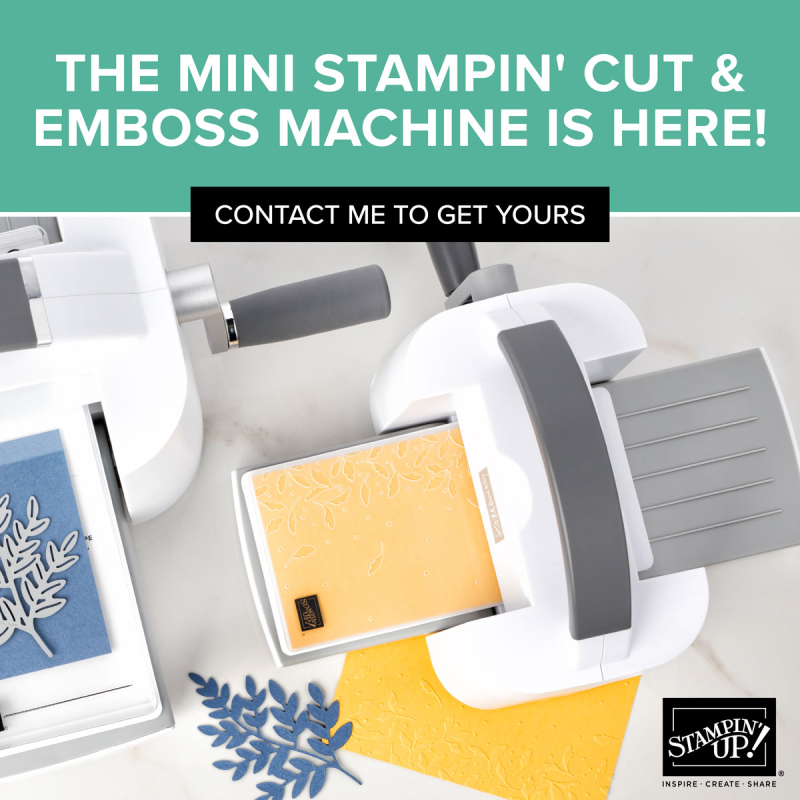 Mini stampin cut & emboss machine