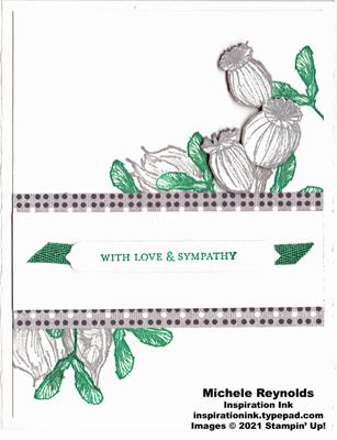 Enjoy the moment sympathy botanical watermark