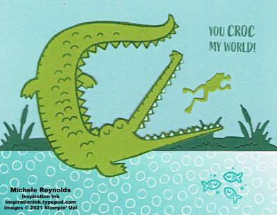 Oh snap frog eating croc watermark