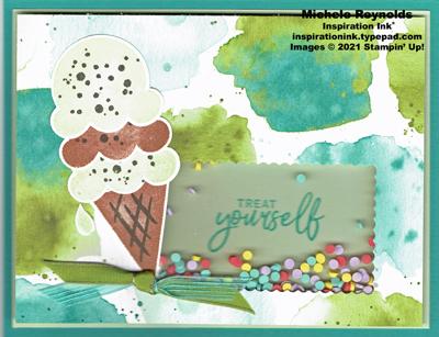 Sweet ice cream shaker treat watermark