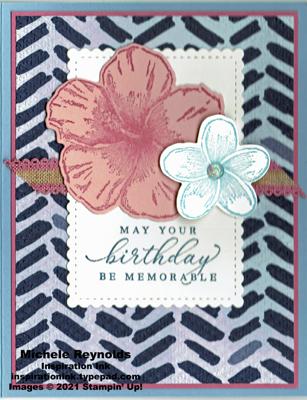 Timeless tropical flowers birthday watermark