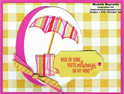 Under my umbrella  bright stripes watermark