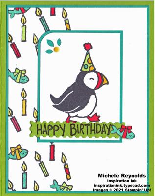 Party puffins birthday bird watermark