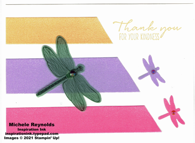 Dragonfly garden shimmer strips watermark