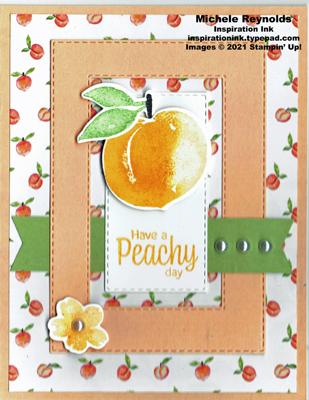 Sweet as a peach framed peach stamped version watermark