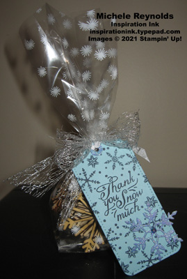Snowflake wishes bag of snowflakes tag