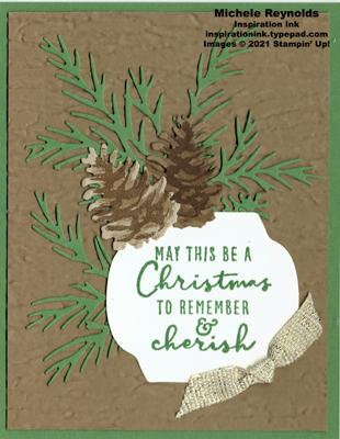 Christmas season cherish pinecones watermark