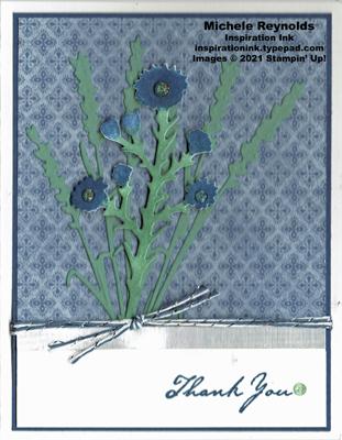 Nature's harvest cornflower bouquet thanks watermark