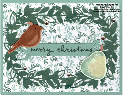 Birds & branches partridge in a pear wreath watermark