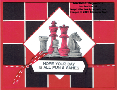 Game on chess board day watermark
