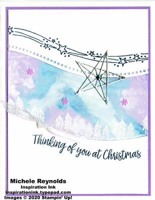 Curvy christmas northern lights trees watermark