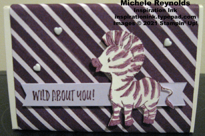 Zany zebras wild about you treat box
