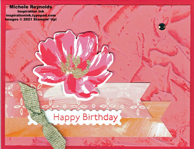 Art gallery stucco flower birthday watermark