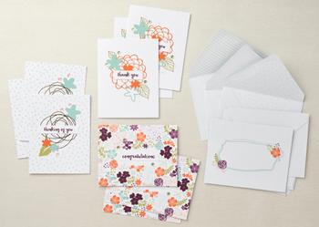 Petal notes card kit