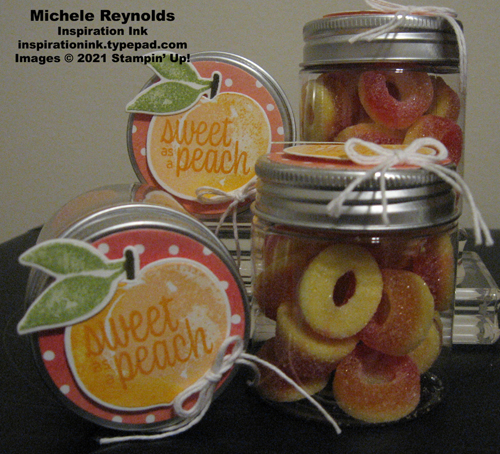 Sweet as a peach gummy jars