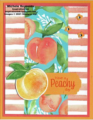 Sweet as a peach peachy strips watermark