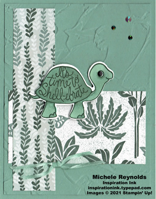 Turtle friends succulent shell-ebration watermark