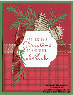 Christmas to remember plaid and pine watermark