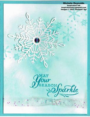 Snowflake wishes sparkle snowflake watermark