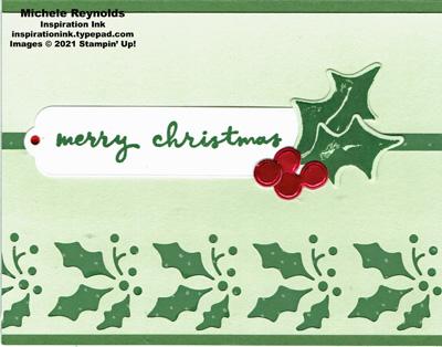 Christmas season punched holly watermark