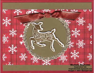 Peaceful deer golden ornament watermark