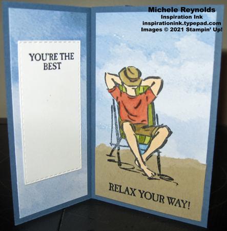 A good man pinwheel card final panels
