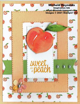 Sweet as a peach framed peach dsp version watermark