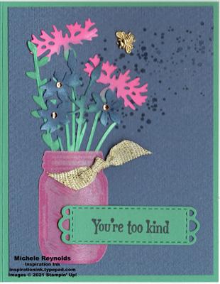 Quiet meadow pink wildflower jar watermark