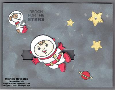Stellar birthday astronaut spinner watermark