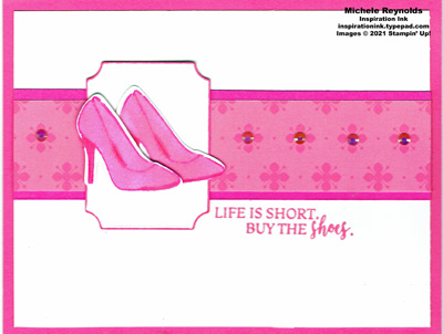 Dressed to impress polished pink shoes watermark