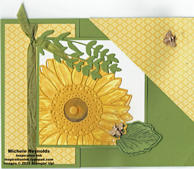 Celebrate sunflowers corner tuck fold watermark