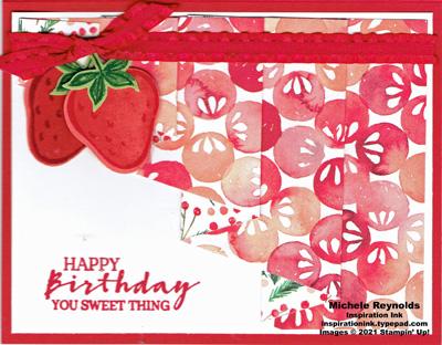 Sweet strawberry drapery berries watermark