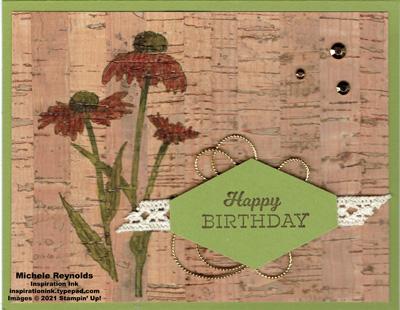 Nature's harvest cork coneflower birthday watermark