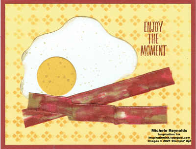 Enjoy the moment bacon and eggs watermark